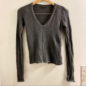 James Perse V-Neck Knit Sweater